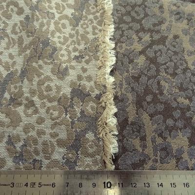 Damasse de coton motif tisse camouflage bronze et grege 3