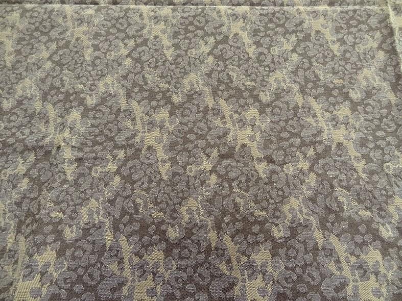 Damasse de coton motif tisse camouflage bronze et grege 4