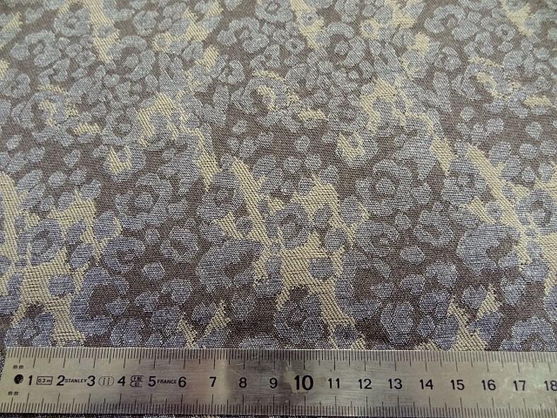 Damasse de coton motif tisse camouflage bronze et grege 5