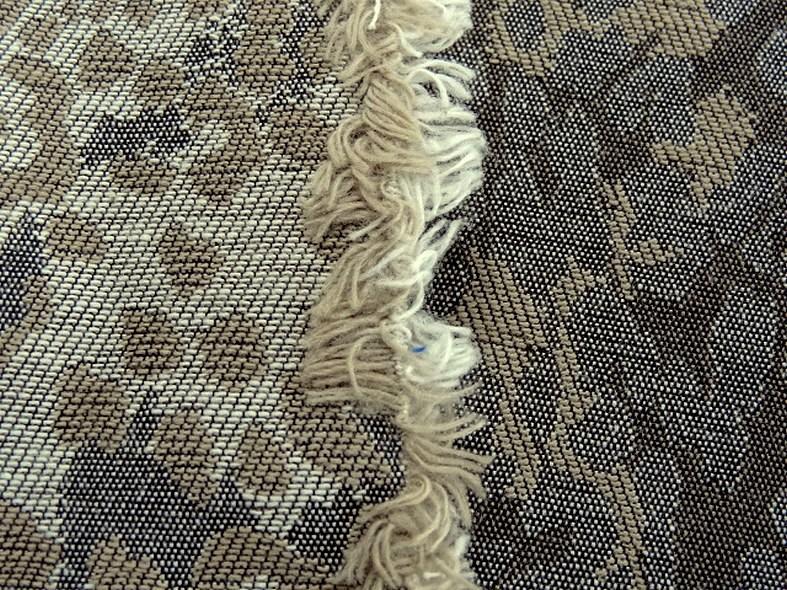 Damasse de coton motif tisse camouflage bronze et grege