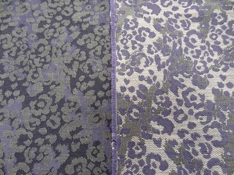 Damasse de coton motif tisse camouflage teintes aubergine glycine 7