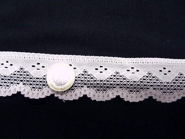 Dentelle coton blanc argile