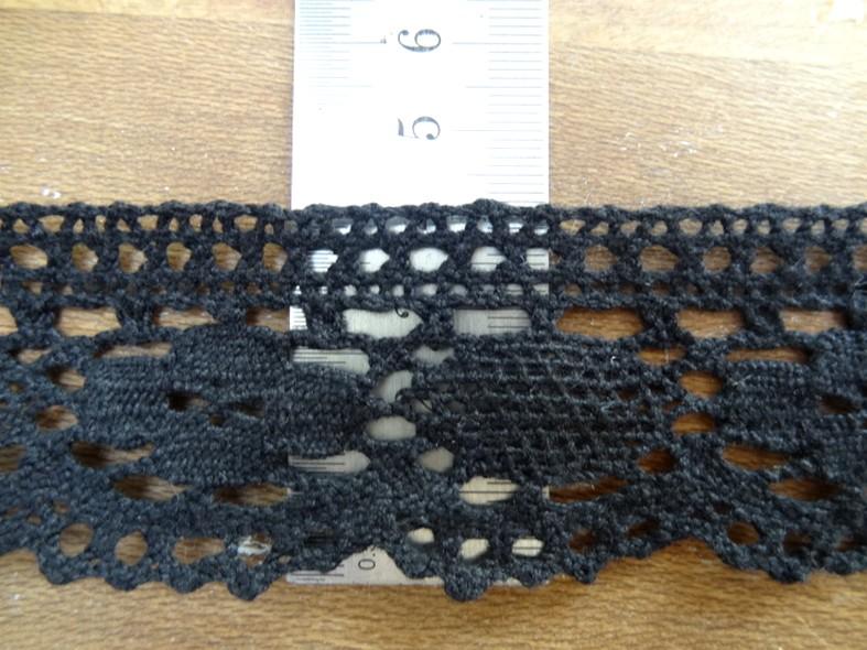 Dentelle crochetee coton noire 1