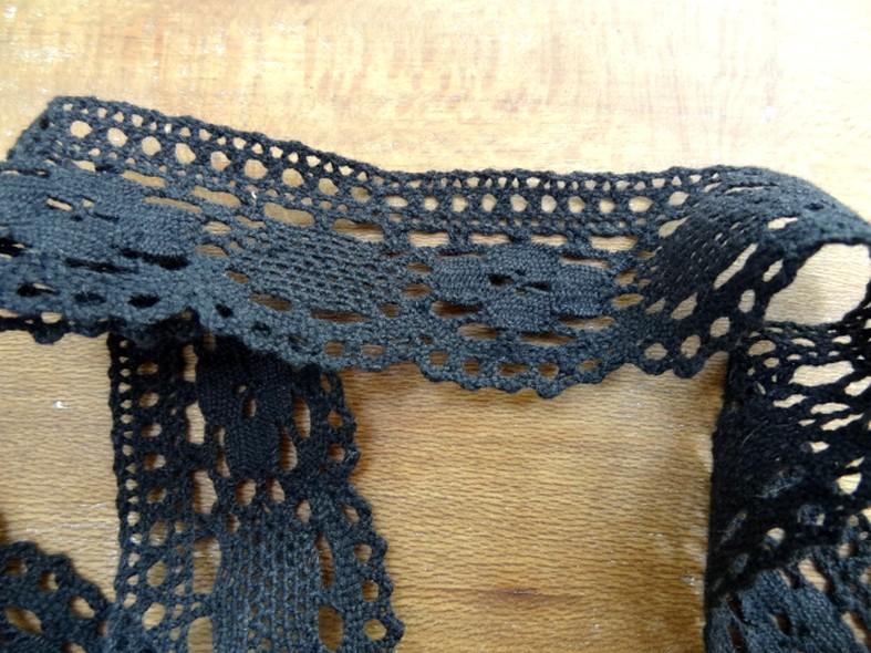 Dentelle crochetee coton noire