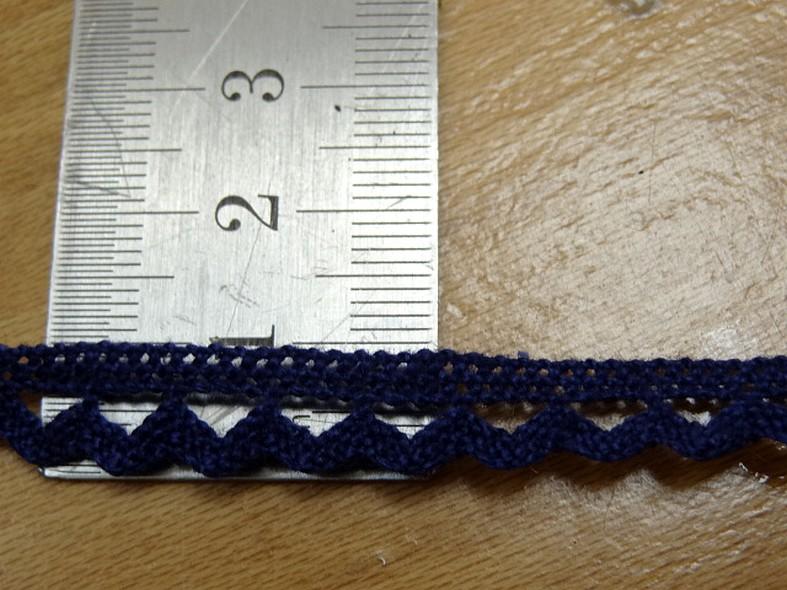 Dentelle croquet teinte bleu marine 9 mm 1