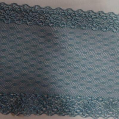 Dentelle resille bleu glacier 12cm