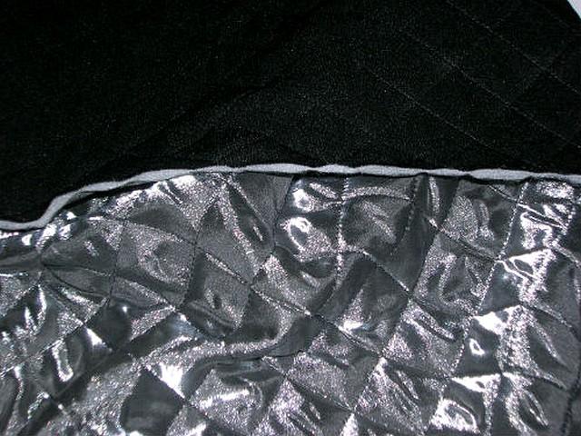 Doublure matelassee argentee et noire 3