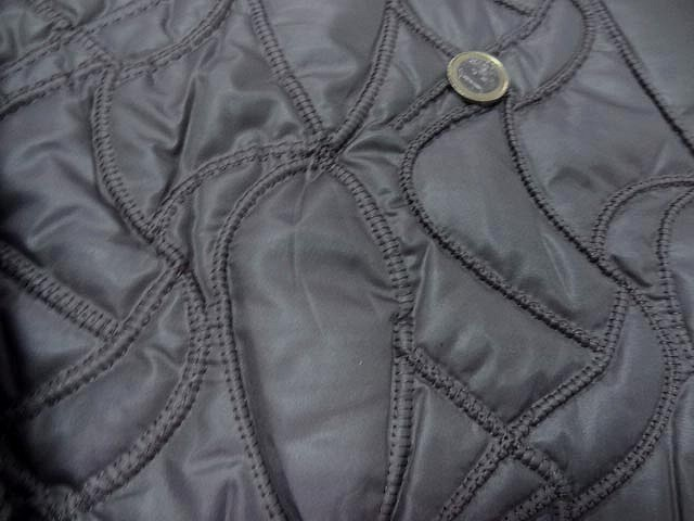 Doublure matelassee gris chaud surpiquee de coutures 3