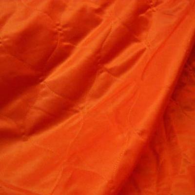 Doublure matelassee orange