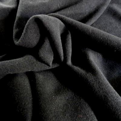 Drap de laine noir uni 01
