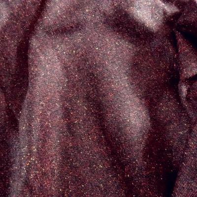 Drap de laine prune chiné 01