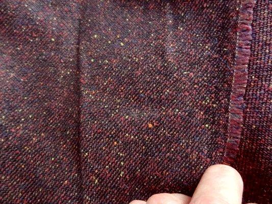 Drap de laine prune chiné 03