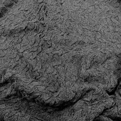 maille jersey coton effet bouillonnant gris 1