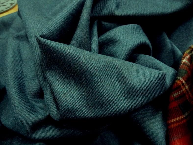 drap de laine bleu canard chiné spéculoos 2
