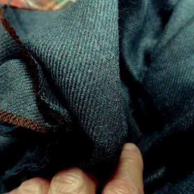 drap de laine bleu canard chiné spéculoos 1