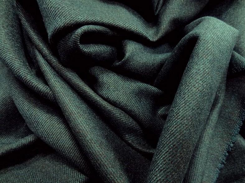 drap de laine bleu canard chiné spéculoos 3