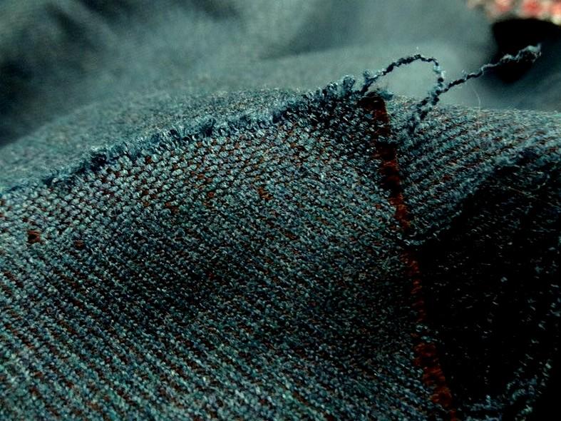 drap de laine bleu canard chiné spéculoos 4
