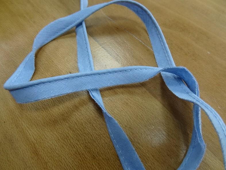 passepoil bleu ciel tout textile 0.3 mm 2