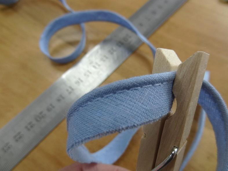 passepoil bleu ciel tout textile 0.3 mm