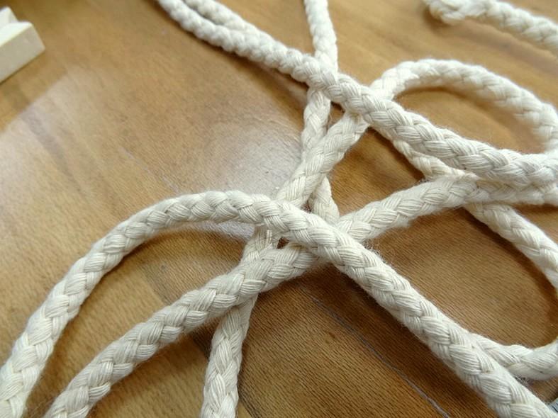cordon tressé en coton écru 8 mm 2