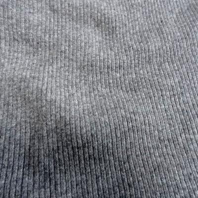 laine à côtes gris chiné