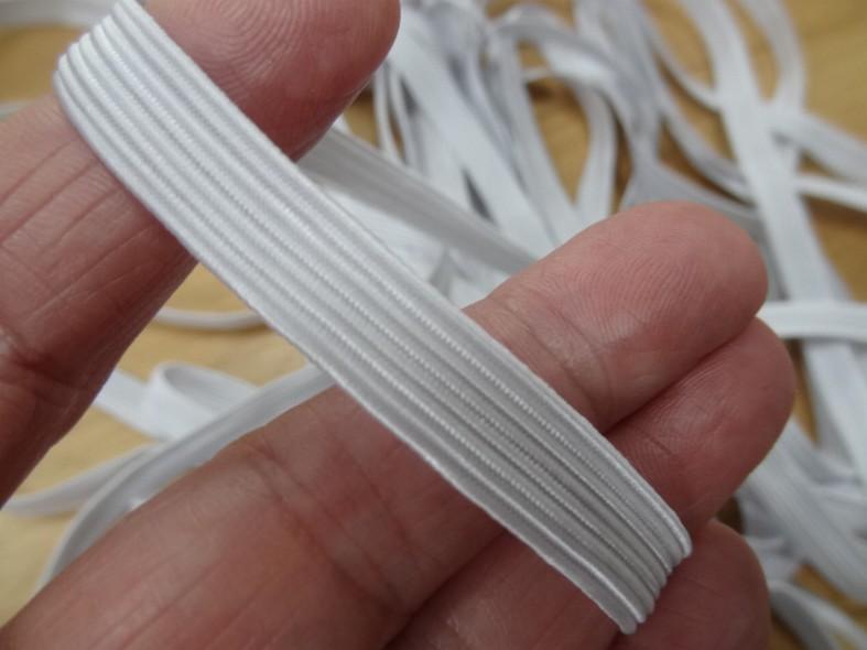 Elastique blanc 9 mm 2