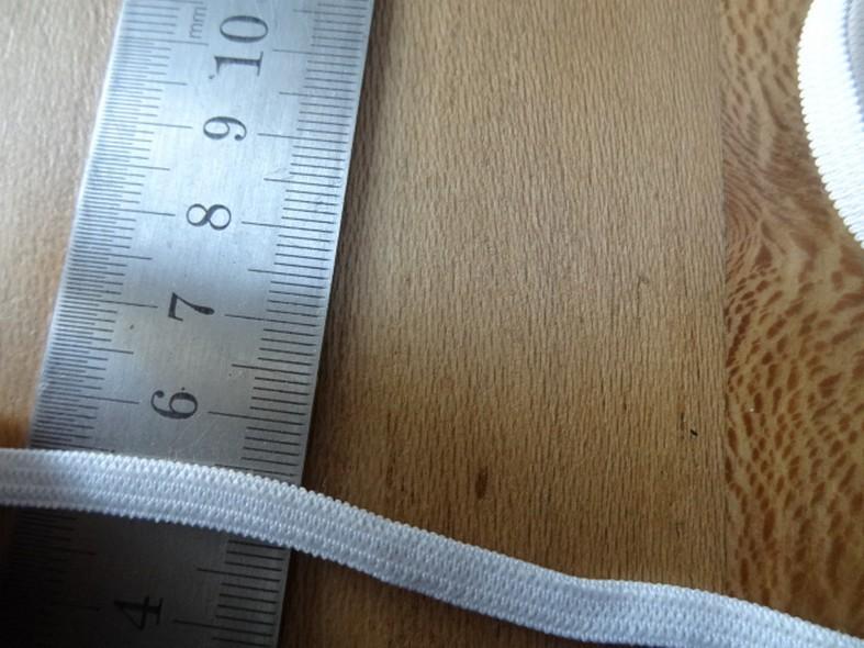 Elastique blanc plat 5 mm de largeur 1