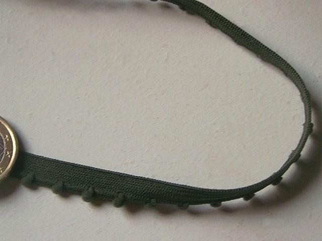 Elastique finition picot vert epinard 2
