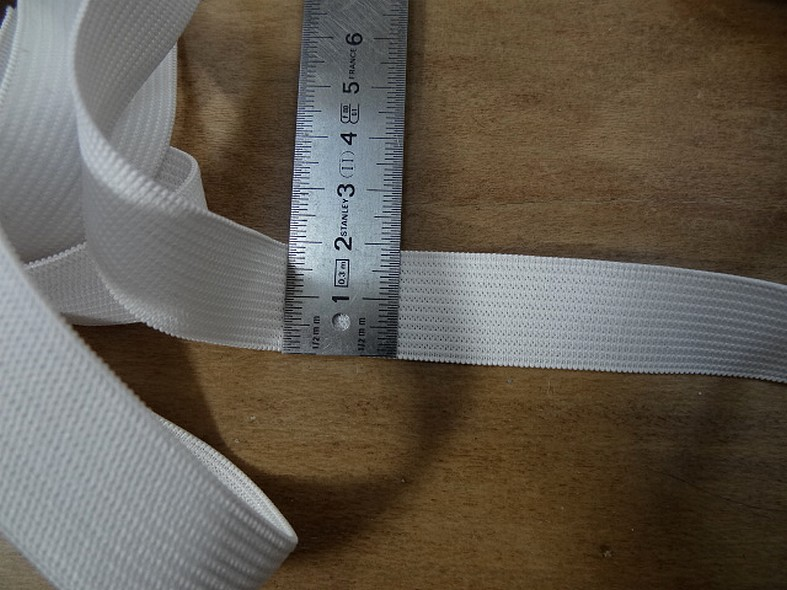 Elastique plat blanc 20 mm 2