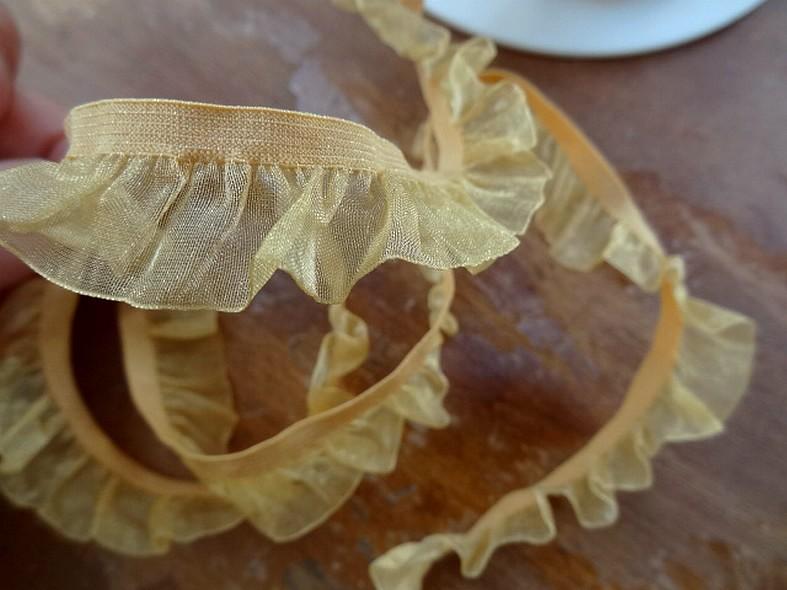 Elastique tutu avec organza miel 2