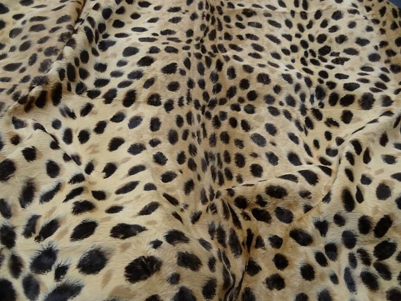 Fausse fourrure beige motif leopard 1