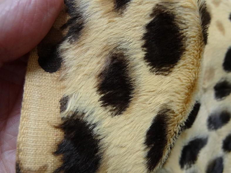 Fausse fourrure beige motif leopard 3
