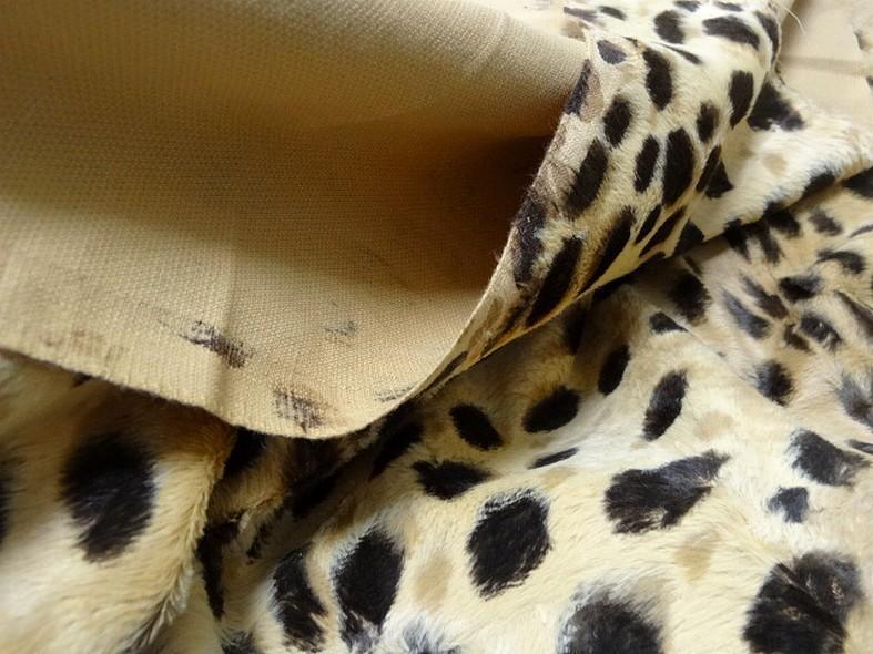 Fausse fourrure beige motif leopard 4