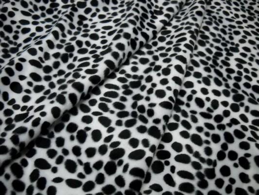Fausse fourrure noir blanc dalmatien 2