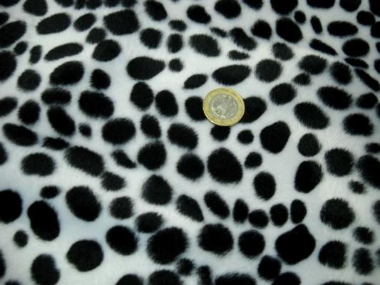 Fausse fourrure noir blanc dalmatien 3