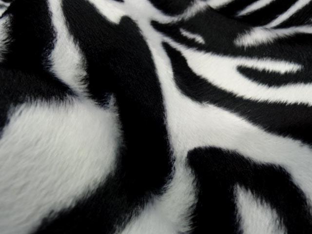 Fausse fourrure poil ras imprime zebre 3