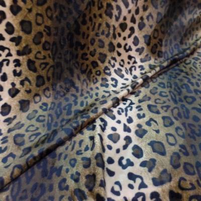 Fausse fourrure poils ras leopard09