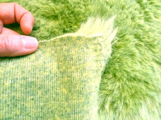 Fausse fourrure vert jaune 03