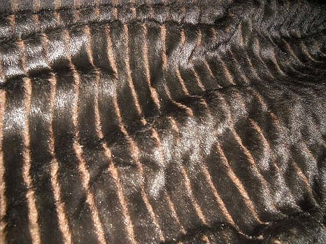 Fausse fourrure vison brun 2