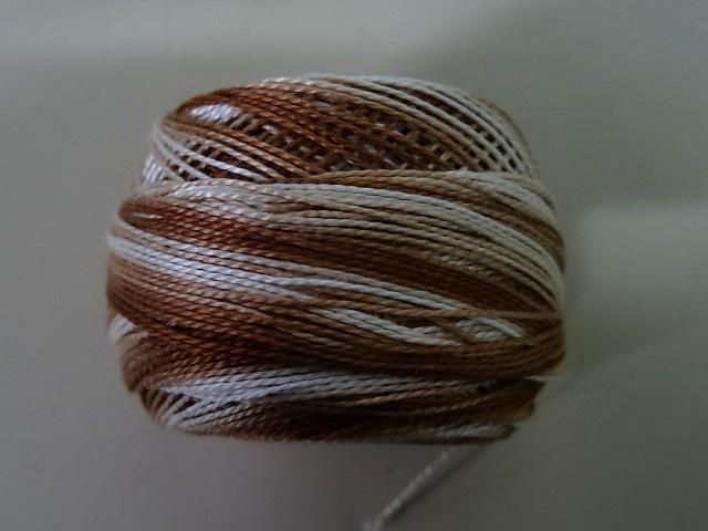 Fil coton perle dmc 105 degrade chocolate 2