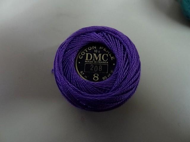 Fil coton perle dmc 208 violet indigo 1