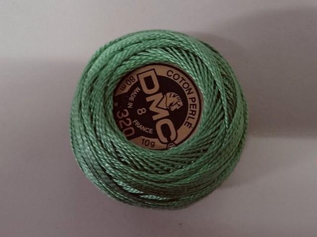 Fil coton perle dmc 320 vert lichen 1