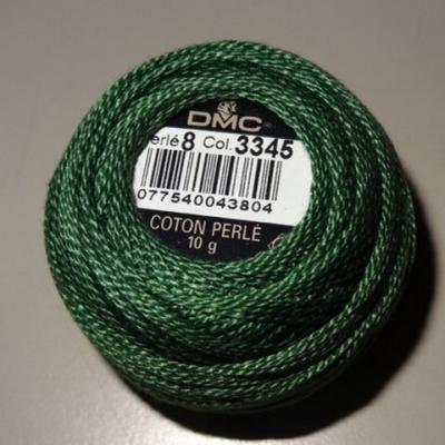 Fil coton perle dmc 3345 vert poireau