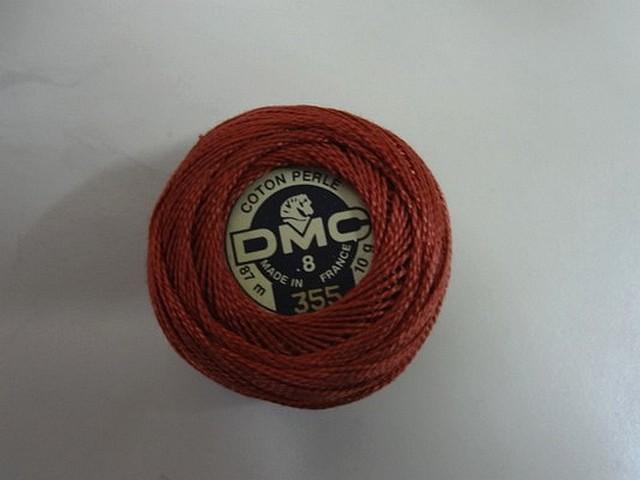 Fil coton perle dmc 355 marron cuivre 1
