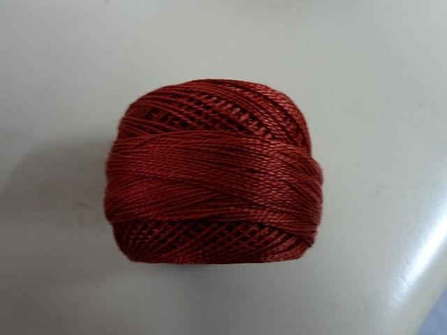 Fil coton perle dmc 355 marron cuivre 2