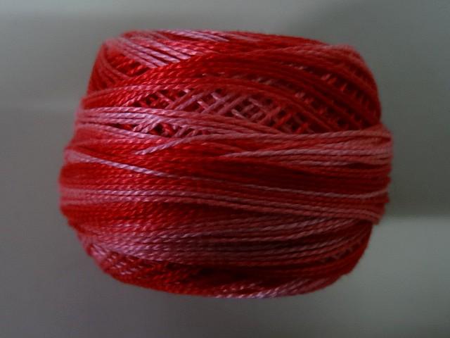 Fil coton perle dmc 57 degrade geranium 2