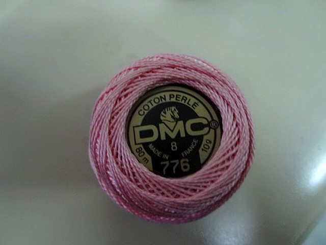 Fil coton perle dmc 776 rose clair 1