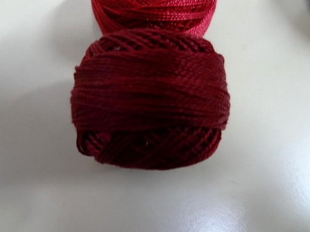Fil coton perle dmc 815 bordeaux 2