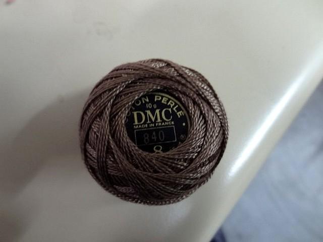 Fil coton perle dmc 840 marron glace
