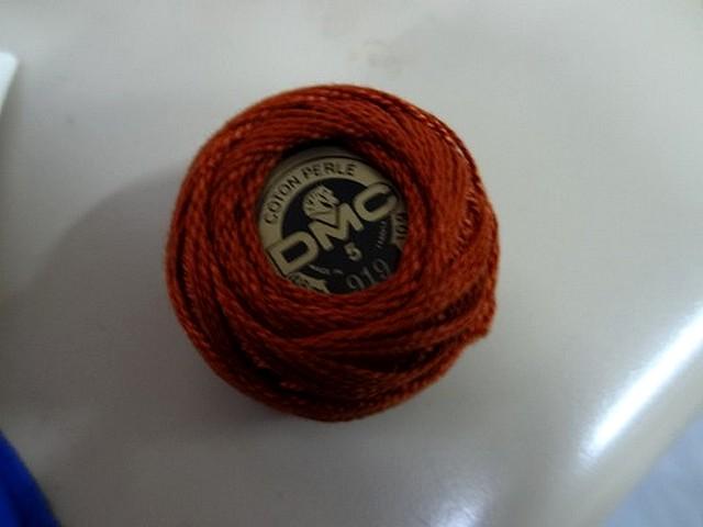 Fil coton perle dmc 919 brique 3